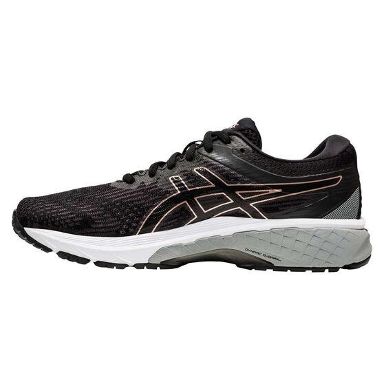 Asics GT 2000 8 D Womens Running Shoes, Black / Rose Gold, rebel_hi-res