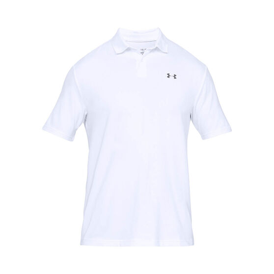 Under Armour Mens Performance 2.0 Polo Shirt, White, rebel_hi-res