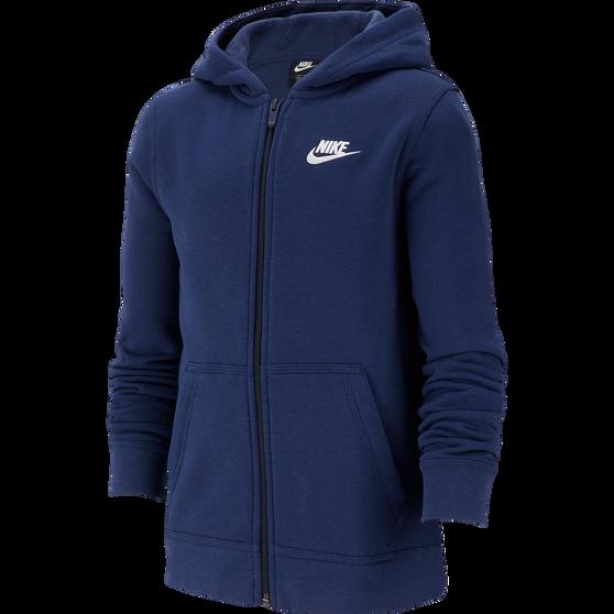 Nike Boys Sportswear Club Full-Zip Hoodie, Navy / White, rebel_hi-res