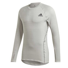 adidas Mens Runner Top Grey S, Grey, rebel_hi-res