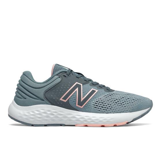 New Balance 520 v7 Womens Running Shoes Grey/Orange US 9.5, , rebel_hi-res