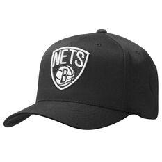 Mitchell and Ness Brooklyn Nets BNW Logo 110 Cap Black OSFA, , rebel_hi-res