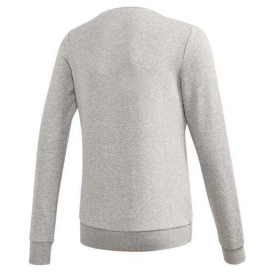 adidas Girls Linear Sweatshirt, Grey, rebel_hi-res
