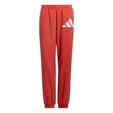 adidas Womens Woven Badge Of Sport Training Pants Red XS, Red, rebel_hi-res