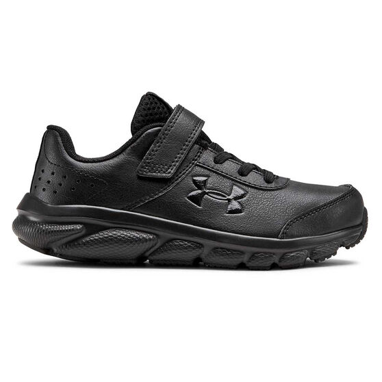 Under Armour Charged Assert 8 Kids Running Shoes, Black, rebel_hi-res