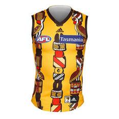 Hawthorne Hawks 2019 Mens Indigenous Jersey Yellow S, Yellow, rebel_hi-res