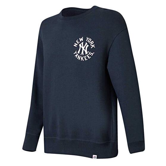 New York Yankees Mens Fingham Sweatshirt Navy XXL, Navy, rebel_hi-res
