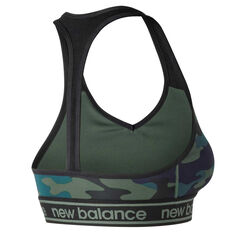New Balance Womens Pace 2.0 Sports Bra Camo XS, Camo, rebel_hi-res