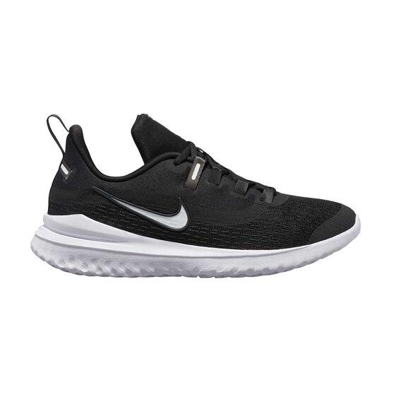 Nike Renew Rival 2 Kids Running Shoes Black / White US 7, Black / White, rebel_hi-res
