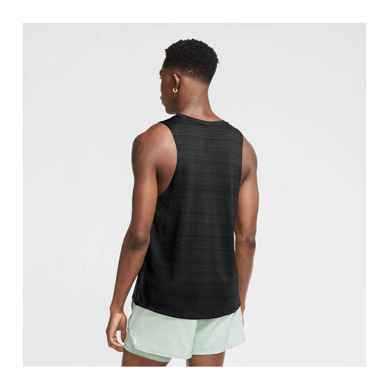 Nike Mens Dri-FIT Miler Tank, Black, rebel_hi-res
