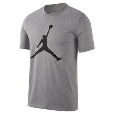 Nike Mens Jordan Jumpman Tee Grey S, Grey, rebel_hi-res