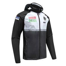 Collingwood Magpies 2020 Mens Wet Weather Jacket Black / White S, Black / White, rebel_hi-res