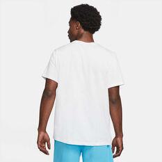 Nike Mens Dri-FIT LeBron Logo Basketball Tee White S, White, rebel_hi-res