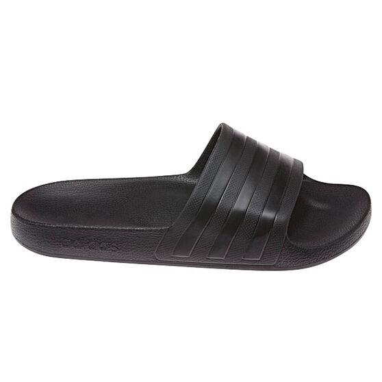 adidas Adilette Aqua Mens Slides, Black, rebel_hi-res