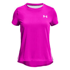 Under Armour Girls Heatgear SS Armour Tee Pink XS, Pink, rebel_hi-res