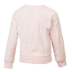 Nike Sportswear Girls Futura Novelty Sweatshirt Pink 4, Pink, rebel_hi-res