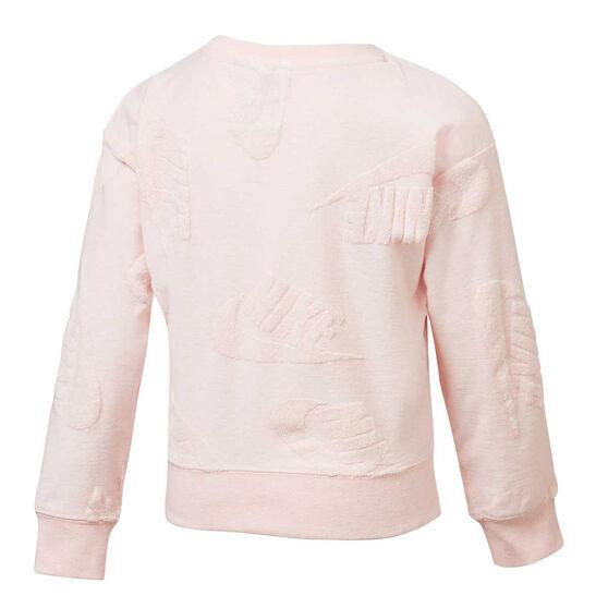 Nike Sportswear Girls Futura Novelty Sweatshirt, Pink, rebel_hi-res