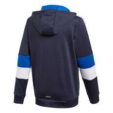 adidas Boys Aeroready 3-Stripes Full-Zip Hoodie Navy/Blue 6, Navy/Blue, rebel_hi-res