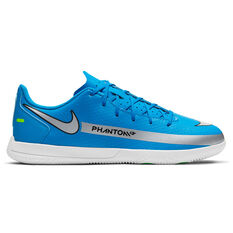 Nike Phantom GT Club Kids Indoor Soccer Shoes Blue US 1, Blue, rebel_hi-res