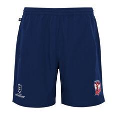 Sydney Roosters 2021 Mens Sports Shorts Blue S, Blue, rebel_hi-res