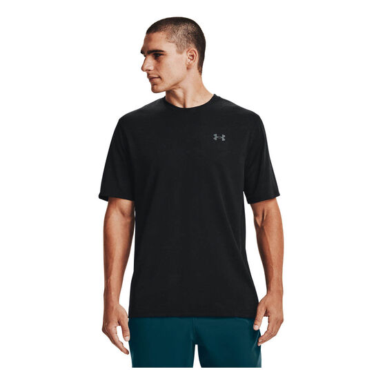Under Armour Mens Training Vent Camo Tee, Black, rebel_hi-res