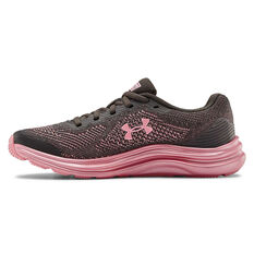 Under Armour Liquify Kids Running Shoes Grey / Pink US 4, Grey / Pink, rebel_hi-res