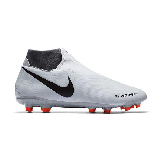 Nike Phantom Vision Academy Dynamic Fit Mens Football Boots Grey / White US 7, Grey / White, rebel_hi-res