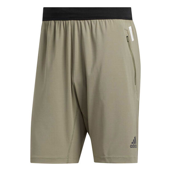 adidas Mens HEAT.RDY 9in Training Shorts Green XL, Green, rebel_hi-res