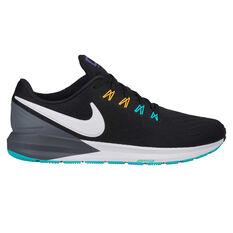 Nike Air Zoom Structure 22 Mens Running Shoes Black / White US 7, Black / White, rebel_hi-res