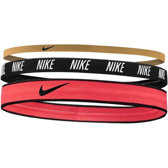 Nike Mixed Width Headbands 3 Pack Multi OSFA, Multi, rebel_hi-res