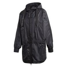 adidas Karlie Kloss Womens WIND.RDY Parka Jacket Black XS, Black, rebel_hi-res