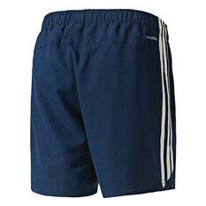 adidas Mens 3-Stripe Chelsea Shorts Navy / White S Adult, Navy / White, rebel_hi-res