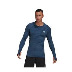 adidas Mens Runner Long Sleeve Tee Navy S, Navy, rebel_hi-res