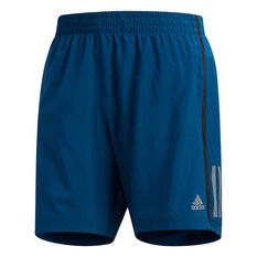 adidas Mens Own the Run 5in Running Shorts Teal S, Teal, rebel_hi-res