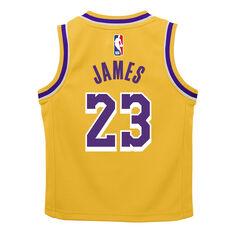 Nike Los Angeles Lakers LeBron James Icon 2019 Infants Swingman Jersey, Yellow, rebel_hi-res