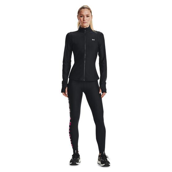 Under Armour Womens HeatGear No Slip Full Length Tights, Black, rebel_hi-res