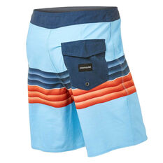 Quiksilver Mens Highline Six Channel 19in Board Shorts Blue 32, Blue, rebel_hi-res