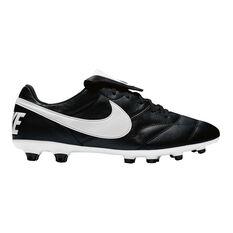 Nike Premier II Mens Football Boots Black / White US 7 Adult, Black / White, rebel_hi-res