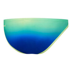 Speedo Womens Squad Low Rise Pant Swim Briefs Blue/Yellow 6, Blue/Yellow, rebel_hi-res