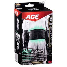 ACE Deluxe Back Stabiliser Black S / M, Black, rebel_hi-res