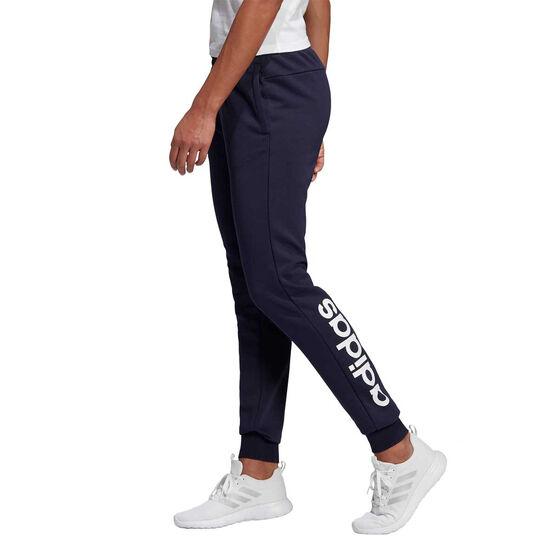 adidas Womens Essentials Linear Track Pants Navy XS, Navy, rebel_hi-res