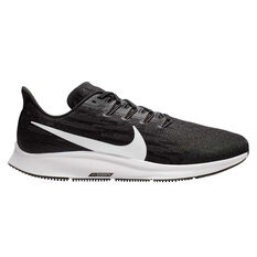 Nike Air Zoom Pegasus 36 4E Mens Running Shoes Black / White US 7, Black / White, rebel_hi-res