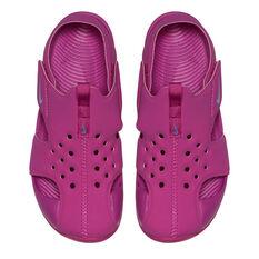 Nike Sunray Protect 2 Junior Kids Sandals Fuschia US 1, Fuschia, rebel_hi-res