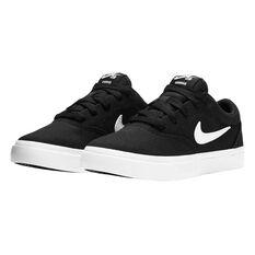 Nike SB Charge Canvas Kids Skateboarding Shoes Black US 1, Black, rebel_hi-res