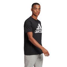 adidas Essentials Mens Big Logo Tee, Black, rebel_hi-res
