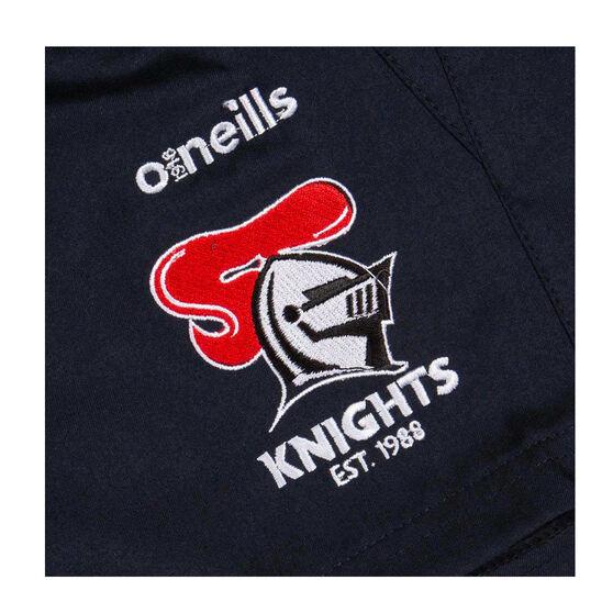 Newcastle Knights 2020 Mens Training Shorts, Navy, rebel_hi-res