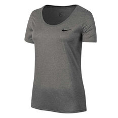 Nike Womens Dry Training Tee Grey XS, Grey, rebel_hi-res