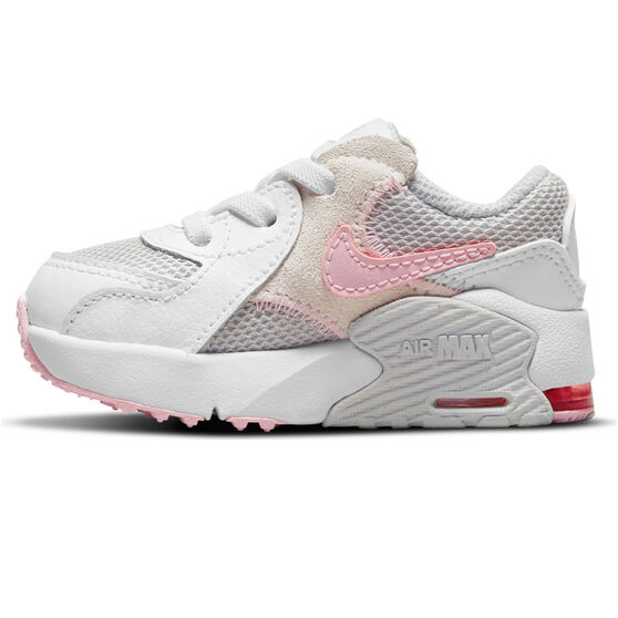 Nike Air Max Excee Toddlers Shoes, White/Pink, rebel_hi-res