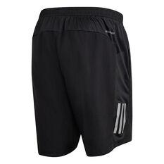 adidas Mens Own The Run 2 in 1 Running Shorts Black XS, Black, rebel_hi-res