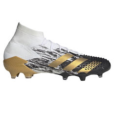 adidas Predator Mutator 20.1 Football Boots White/Gold US Mens 7 / Womens 8, White/Gold, rebel_hi-res